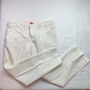 Tory Burch White Vintage Chino Pants Size 28